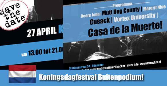 Koningsdag festival op het Truckerplein